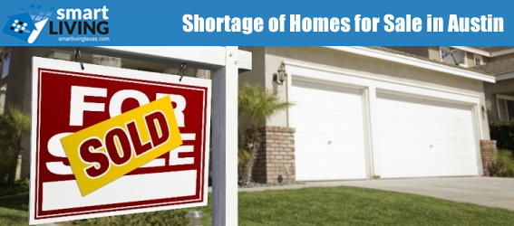 Shortages of Homes for Sale in Austin